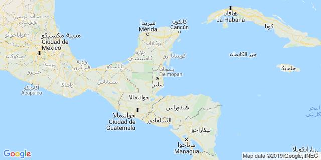 خريطة دولة بليز