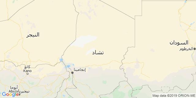 خريطة دولة تشاد