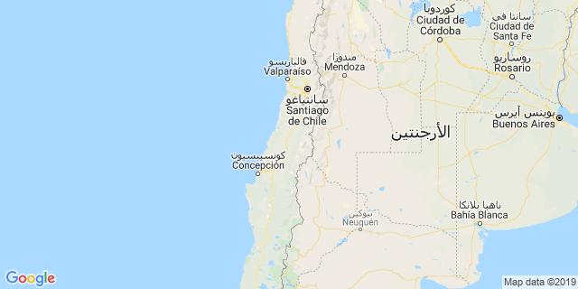 خريطة دولة تشيلي
