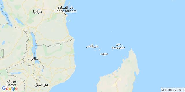 خريطة دولة جزر القمر