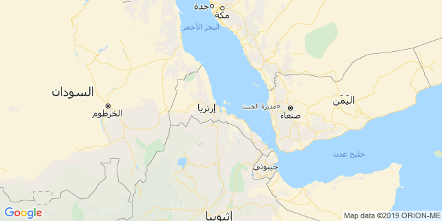 خريطة دولة إريتريا