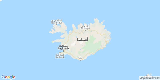 خريطة دولة أيسلندا