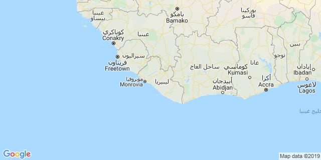 خريطة دولة ليبيريا
