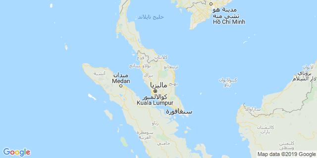 خريطة دولة ماليزيا