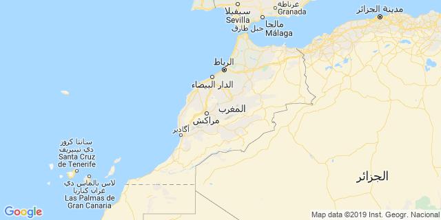 خريطة دولة المغرب