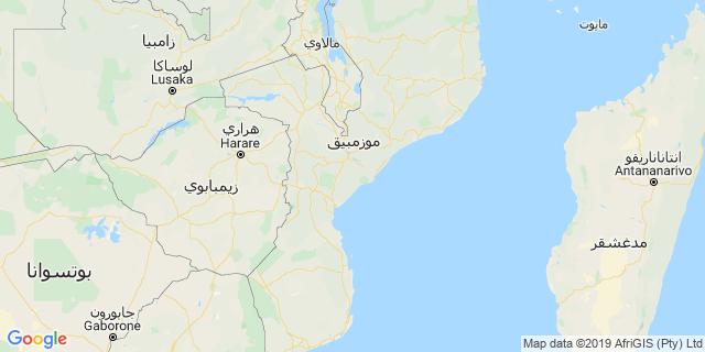 خريطة دولة موزمبيق