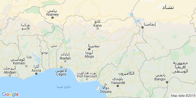 خريطة دولة نيجيريا