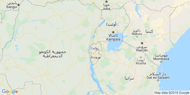 خريطة دولة رواندا