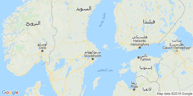 خريطة دولة السويد