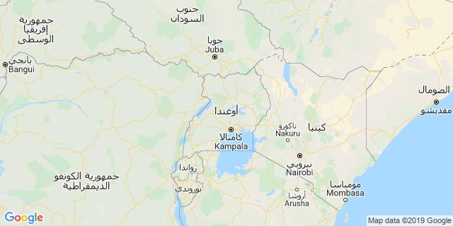 خريطة دولة أوغندا